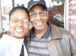 Billy Jones of the Drifters, a native of Temescal, and I after doing an interview.